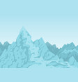 mountains of blue color image vector image vector image