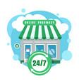 online pharmacy icon vector image