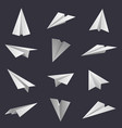 paper planes handmade origami aircraft figures vector image