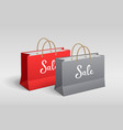 red and gray paper bag shopping sale with rope vector image vector image