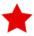 red star flat icon symbol vector image