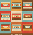 Retro Cassette Icons vector image vector image