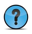 round button with a picture of a question mark vector image vector image