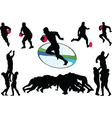 rugby collection - vector image vector image