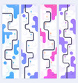set layouts with trendy gradient designs road vector image vector image