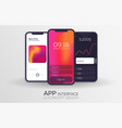 set of mobile ui design concepts bank interface vector image vector image
