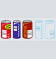 set of various can vector image vector image
