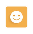 smiley flat icon object isolated on white vector image vector image