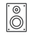 sound speaker line icon electronic and digital vector image vector image