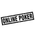 square grunge black online poker stamp vector image vector image