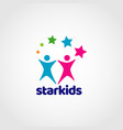 star kids colorful logo sign symbol icon vector image vector image
