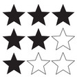 star rating icon on white background flat style vector image vector image