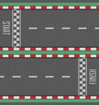 start and finish line racing background vector image