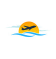 sunset travel logo icon design vector image