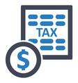 Tax report tariff icon