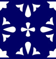 tile indigo blue and white decorative floor tiles vector image vector image