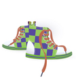 Two green sneakers vector image vector image