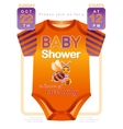 Unisex baby shower invitation design with body vector image