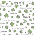 virus epidemic seamless pattern backdrop with of vector image