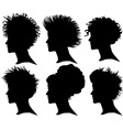 woman silhouette profile vector image vector image