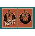 Zombie party invitation vector image vector image