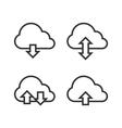 Cloud Storage Icon Set vector image