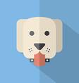 Modern Flat Design Dog Icon vector image