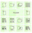 14 folder icons vector image vector image
