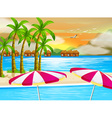 A beautiful view of the beach vector image vector image