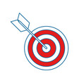 arrow and bow icon vector image vector image