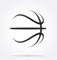 basketball abstract simple line drawing