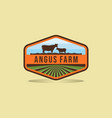 black angus logo design farm badge logo design vector image vector image