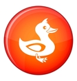 Black duck icon flat style vector image vector image