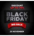 Black Friday promo banner background vector image vector image