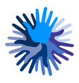 Blue Hand Print icon vector image