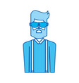 blue icon upper body man vector image