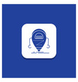 blue round button for android beta droid robot vector image