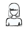 blurred silhouette faceless half body young woman vector image vector image