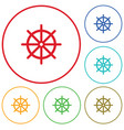 boat steering wheel icon vector image vector image
