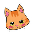 cartoon portrait of a smiling cat vector image vector image