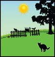 cat in the nature vector image