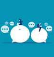 chat talk business people for sending messages vector image