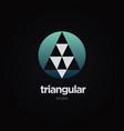 circular triangle logo design symbol vector image vector image
