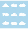 cloud set with blue background vector image vector image