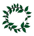 color image decorative crown of leaves in circular vector image