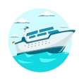 Cruise liner ship vector image vector image