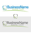 dentist icon and logo vector image vector image