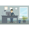 design of office environment vector image vector image