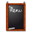 Empty menu board vector image