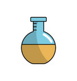 erlenmeyer flask to lab chemical design vector image vector image